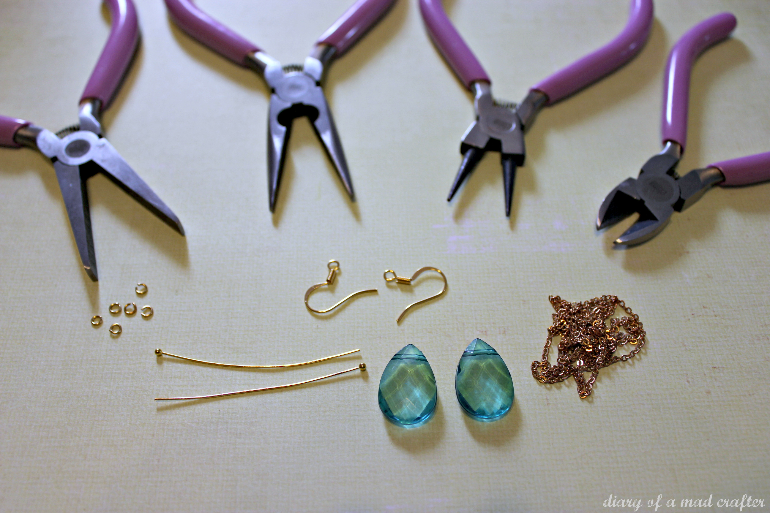 Another easy pair of chandelier earrings A tutorial