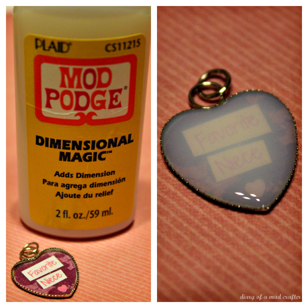 The chic cupcake diy mod podge dimensional magic necklace for Diy using mod podge