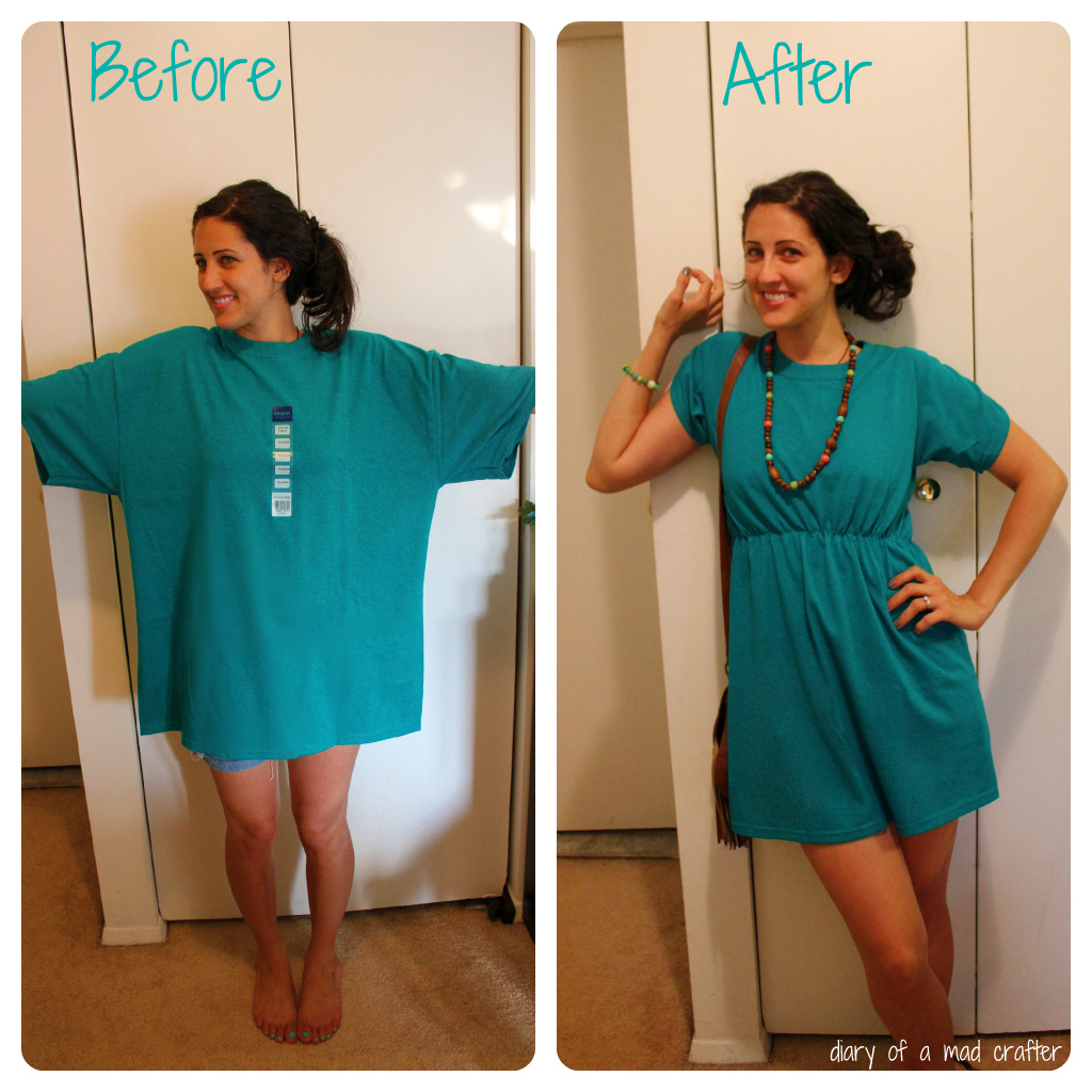 t shirt remodel a tutorial diary of a mad crafter