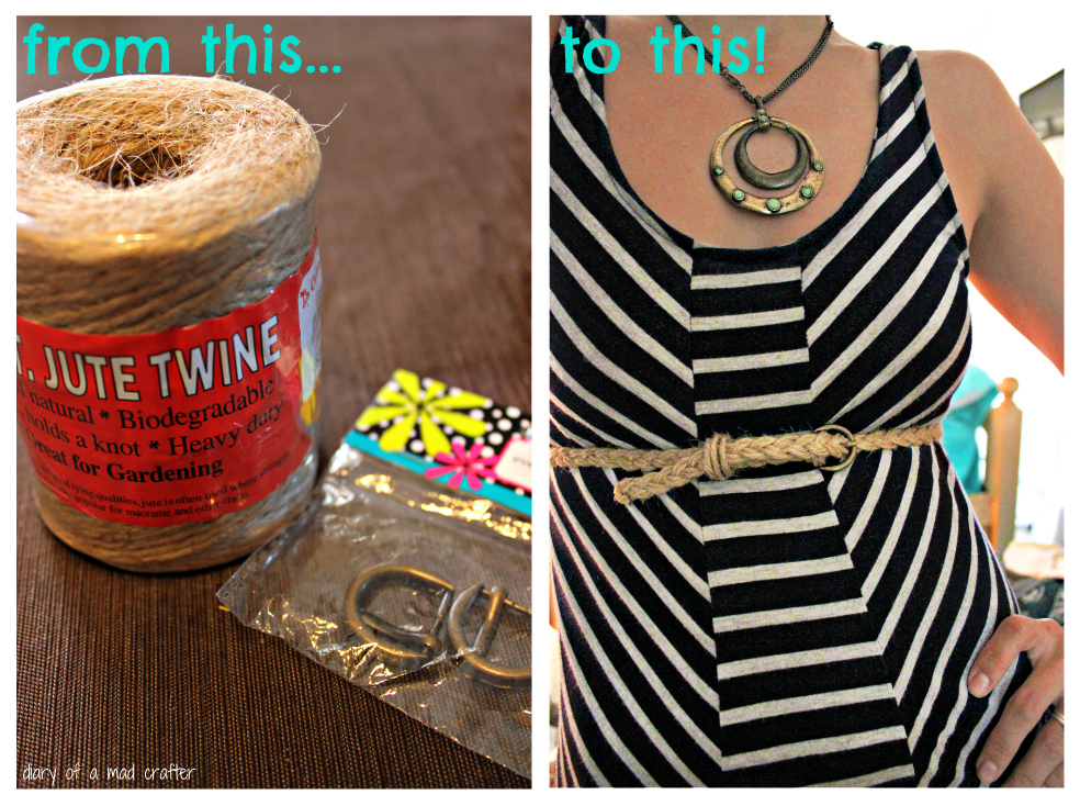 Easy Handmade Twine Belt: A Tutorial | Diary of a Mad Crafter