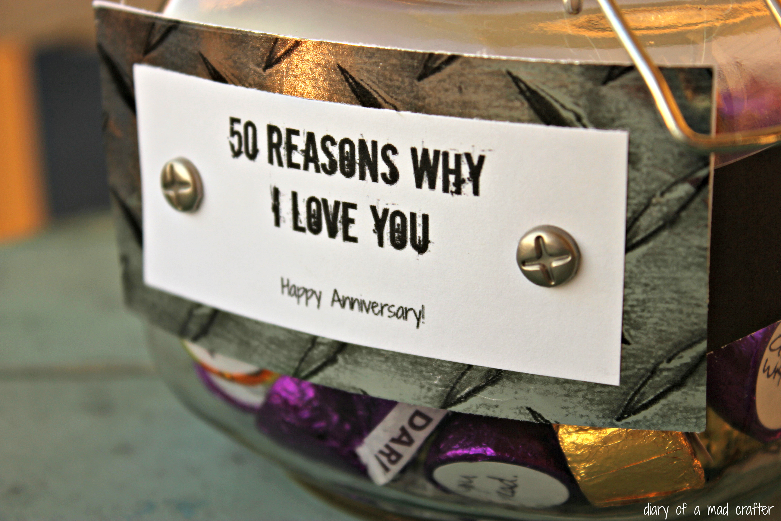50 Reasons Why I Love You Jar Diary Of A Mad Crafter