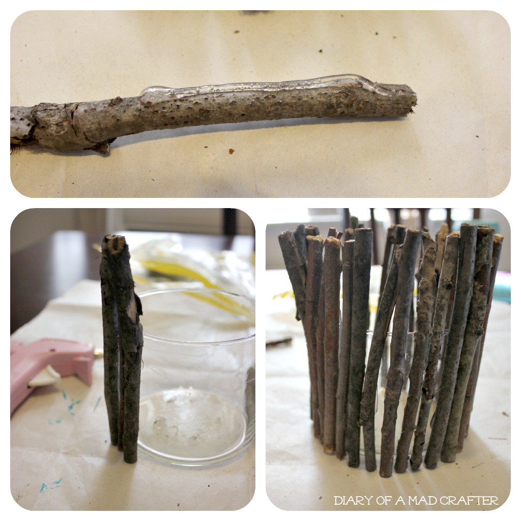 Twig Accented Candle Holder Candles Add A Romantic Touch To Wedding Centerpieces This DIY Will Help Fall Flare That