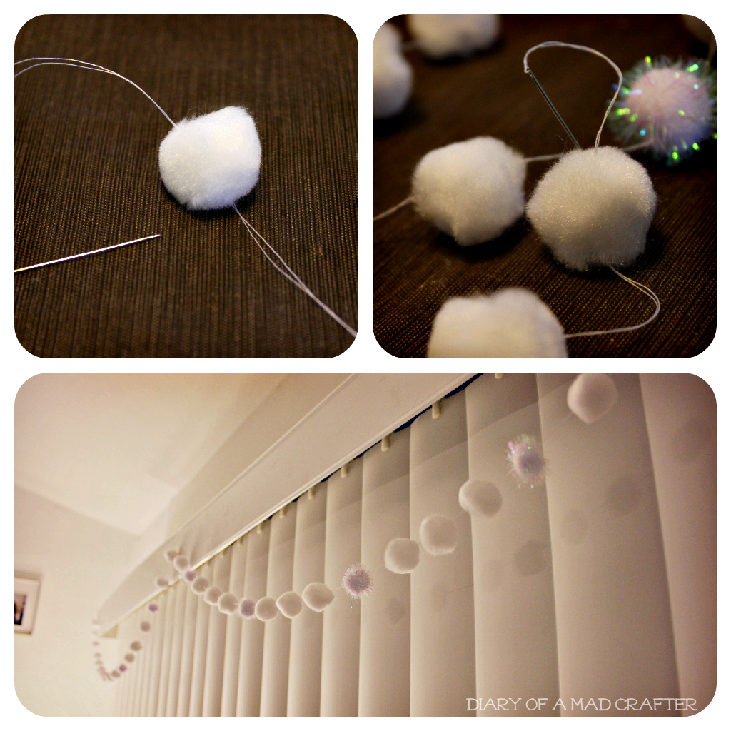 Christmas Decor For Bedroom Door : Diy pom garland diary of a mad crafter