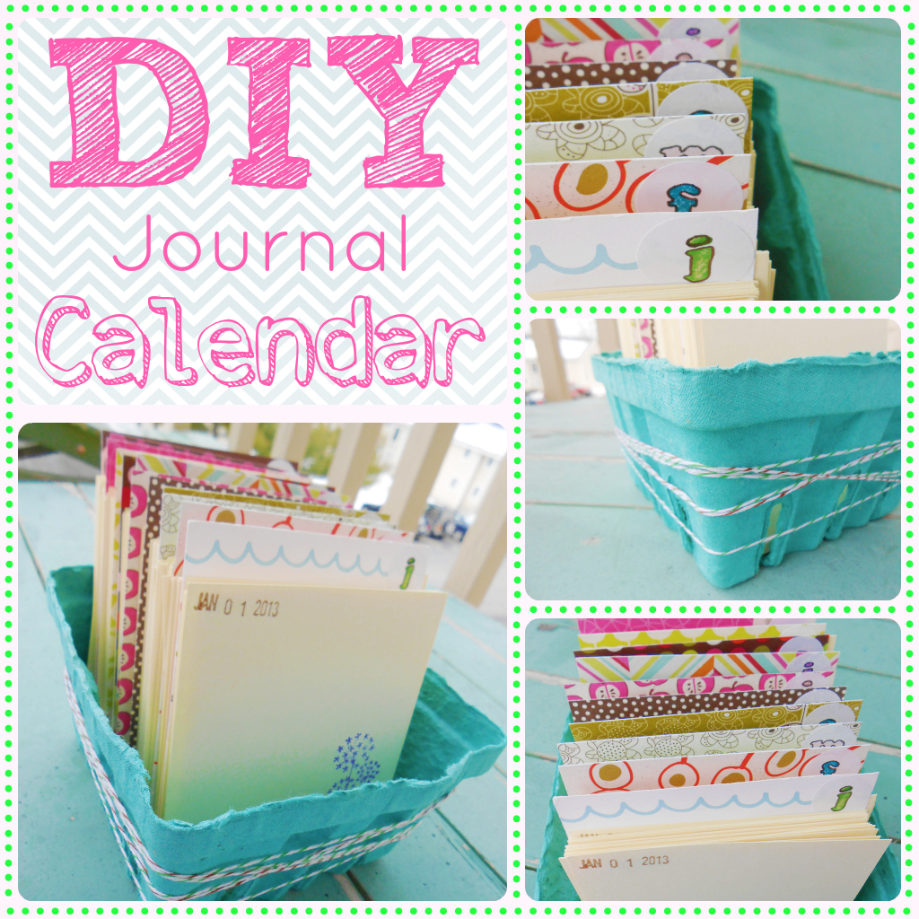 Diy Calendar Diary : Diy daily journal calendar diary of a mad crafter