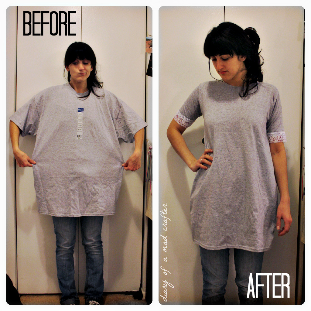 DIY T-Shirt Remodel II   Diary of a Mad Crafter