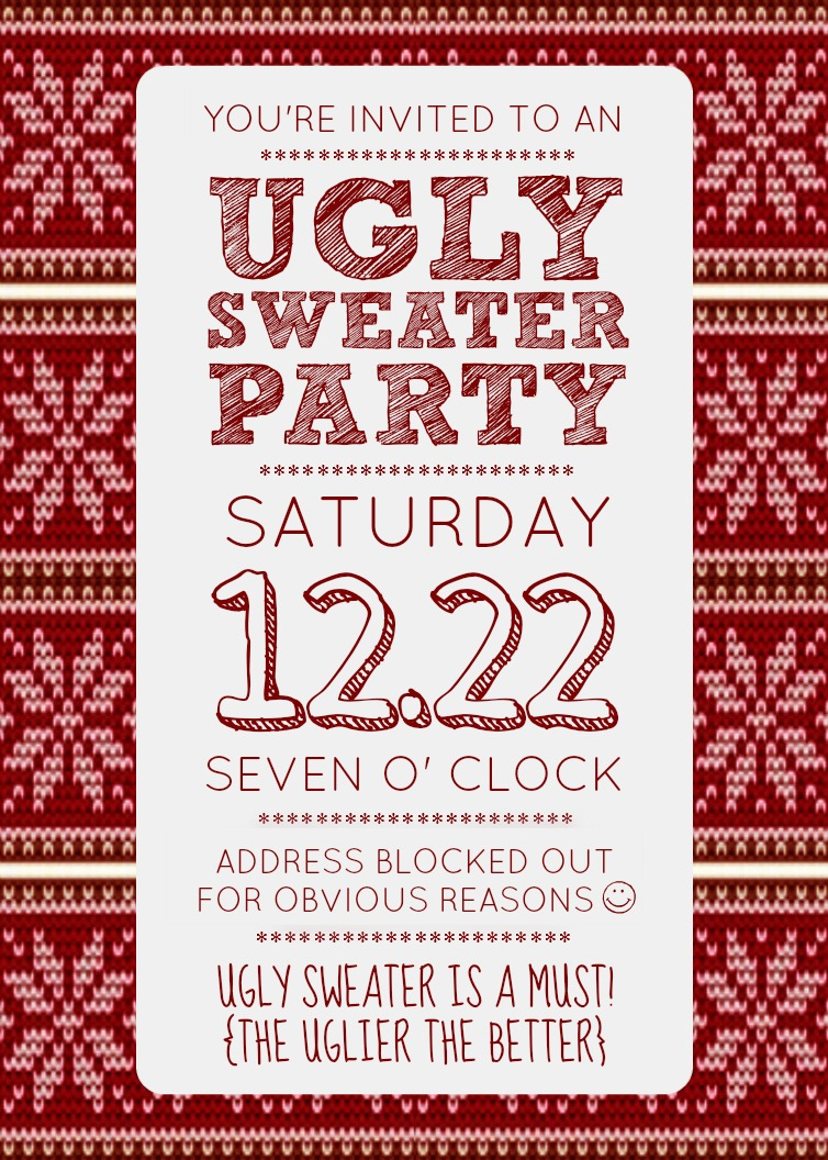 100+ [ Ugly Christmas Sweater Invitation Template ] | 46 Best ...