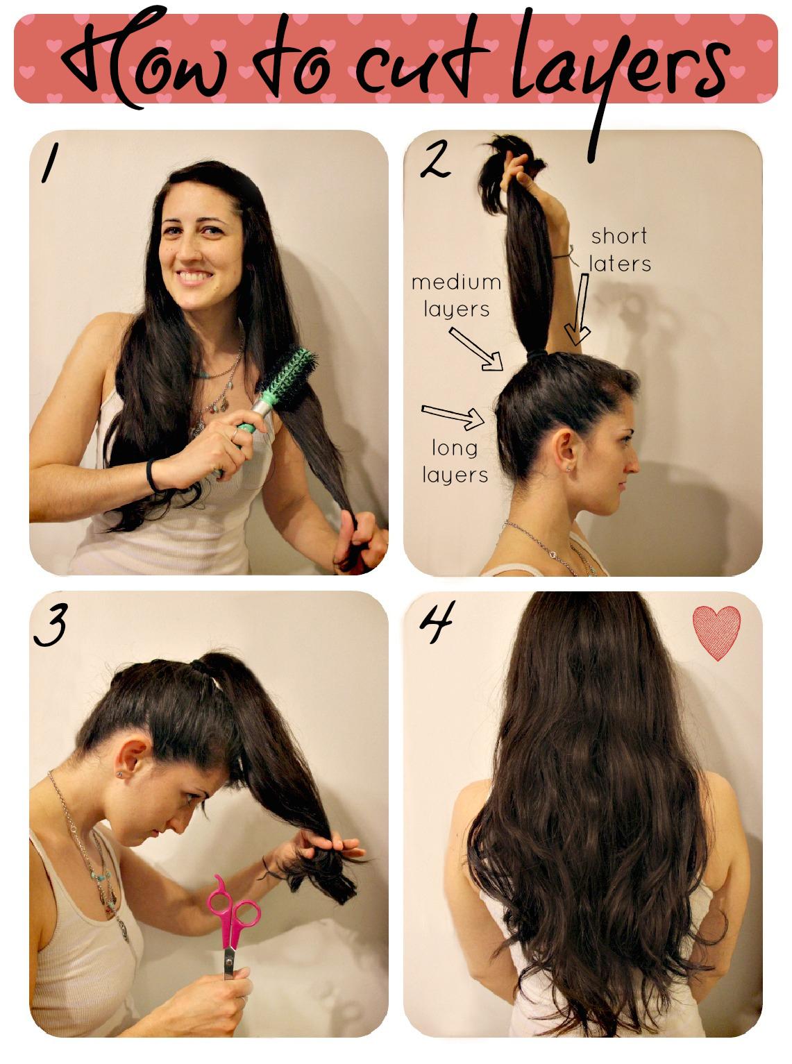 Причёски на длинные волосы с чёлкой самой себе