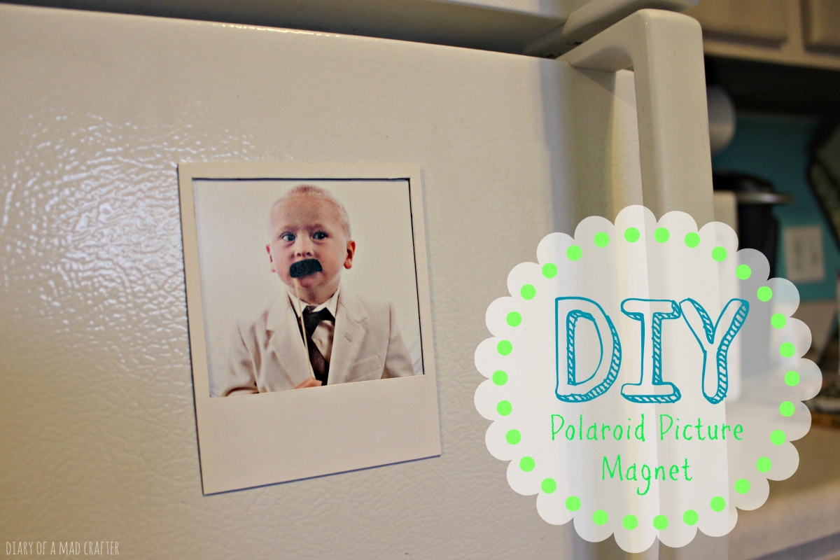 Diy Polaroid Picture Frame Magnet Diary Of A Mad Crafter
