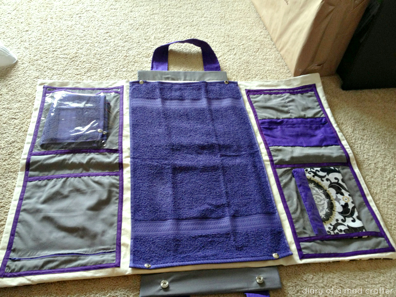 DIY Diaper Bag/Changing Station | Diary of a Mad Crafter