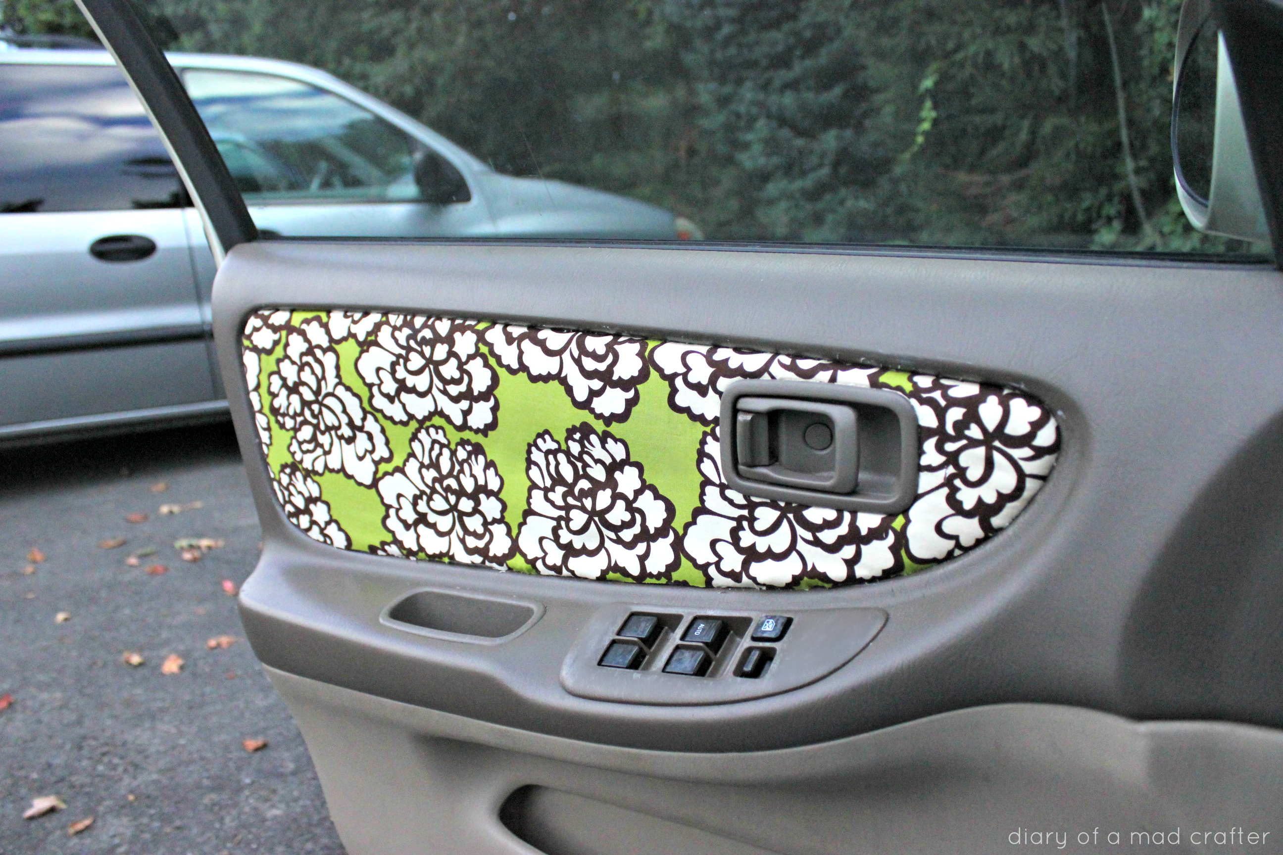 Reupholster Your Car Door Fabric Diary Of A Mad Crafter