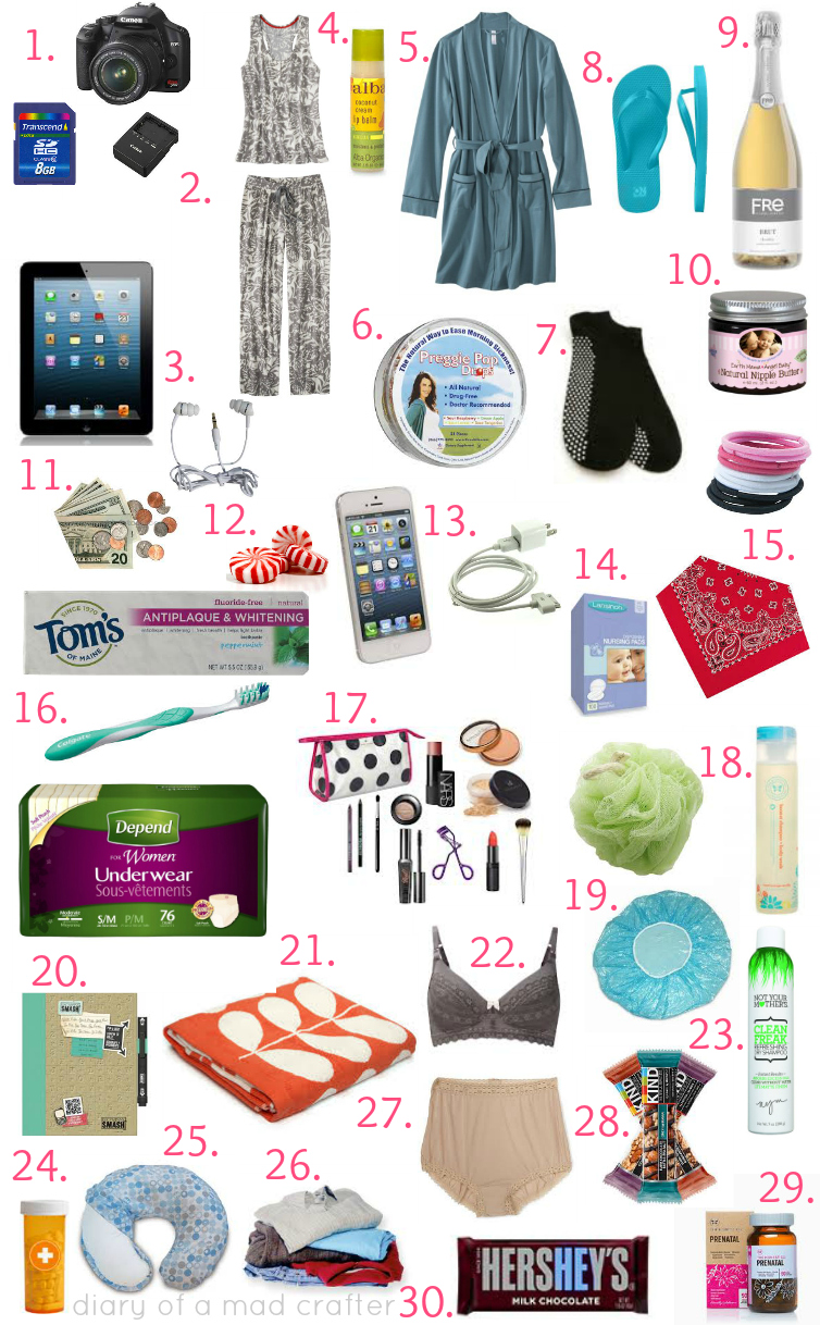 what s in my hospital bag diary of a mad crafter